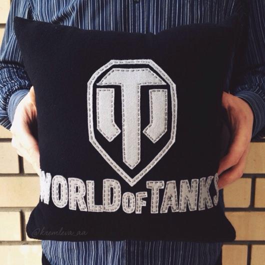 """Текстиль, ковры ручной работы. Ярмарка Мастеров - ручная работа. Купить Подушка """"Танки"""". Handmade. Подушка, подушка в авто"""