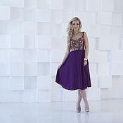 Одежда handmade. Livemaster - original item Evening dress, short purple cocktail dress. Handmade.