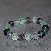 Украшения handmade. Livemaster - original item Delicate bracelet with natural fluorite cut. Handmade.