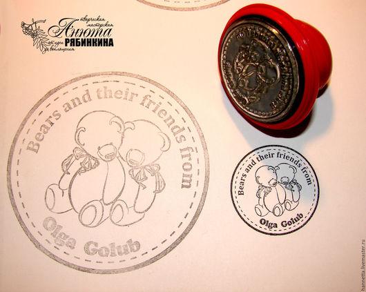 Пример печати на круглой пластиковой оснастке