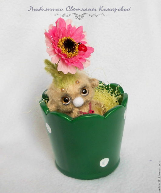 Сказочные персонажи ручной работы. Ярмарка Мастеров - ручная работа. Купить Нафанька цветочный тролль. Handmade. Бежевый, пластик