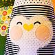 Пледы и одеяла ручной работы. Подушка-игрушка Пингвин. Солнечно. Интернет-магазин Ярмарка Мастеров. Подарок, подарок малышу, в горох