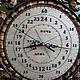 Часы для дома ручной работы. Настенные кварцевые часы в резной буковой раме. Сергей. Ярмарка Мастеров. Патина