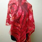 Аксессуары ручной работы. Ярмарка Мастеров - ручная работа Палантин валяный на шифоне. Handmade.