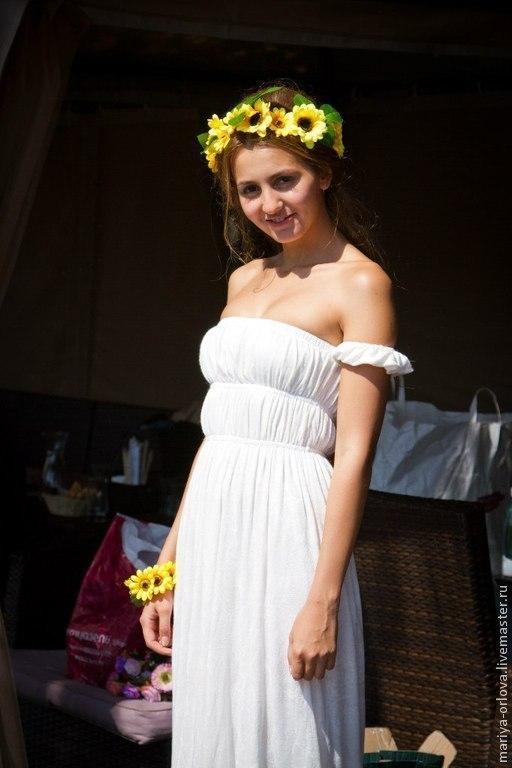 Платья ручной работы. Ярмарка Мастеров - ручная работа. Купить Платье Дикий ангел. Handmade. Белый, платье на заказ