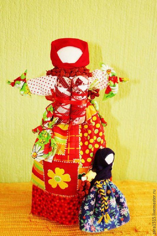 Сувениры ручной работы. Ярмарка Мастеров - ручная работа. Купить Кукла-оберег Рябинка. Handmade. Комбинированный, русский сувенир, тесьма