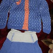Работы для детей, ручной работы. Ярмарка Мастеров - ручная работа Костюм для девочки лаванда. Handmade.