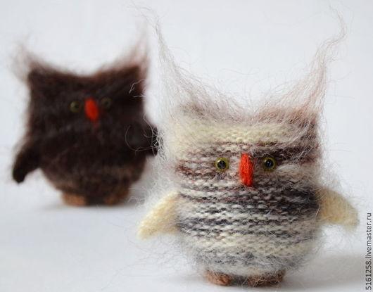 Миниатюра ручной работы. Ярмарка Мастеров - ручная работа. Купить Сова - вязаные совы игрушки совята  мягкие игрушки  ручной работы. Handmade.