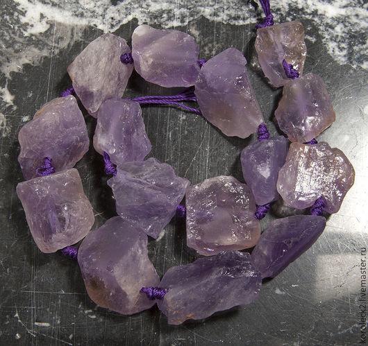 Для украшений ручной работы. Ярмарка Мастеров - ручная работа. Купить Бусины - кристаллы из необработанного аметиста. Handmade. Бусины для украшений