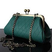 Сумки и аксессуары handmade. Livemaster - original item Leather Bag with Clasp Green Forest Retro Green. Handmade.