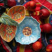 "Менажницы ручной работы. Ярмарка Мастеров - ручная работа Менажница ""Вышивка"". Handmade."
