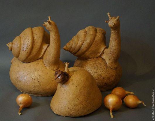 Садово-парковая керамическая скульптура `Улитки`, керамическая мастерская Эльзы и Бориса Гурковых