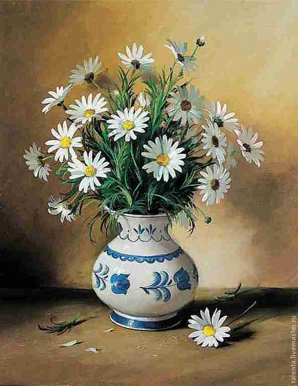 Фото ромашки в вазе