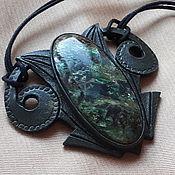 Украшения handmade. Livemaster - original item Pendant with fuchsite. Handmade.