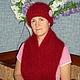 Шапки ручной работы. Комплект Зимний шапка и шарф. Екатерина (Red-foxy). Интернет-магазин Ярмарка Мастеров. Однотонный