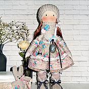 Куклы и пупсы ручной работы. Ярмарка Мастеров - ручная работа Кукла текстильная в бежевом, винтаж. Handmade.