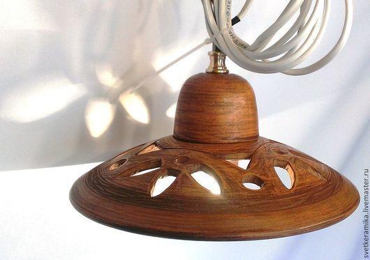 Освещение ручной работы. Ярмарка Мастеров - ручная работа. Купить Керамический плафон в сборе. Для люстры из металла или дерева.. Handmade.