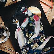 Картины и панно ручной работы. Ярмарка Мастеров - ручная работа MoliHuaCha. Handmade.