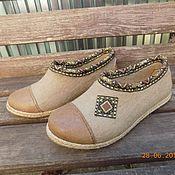 Обувь ручной работы. Ярмарка Мастеров - ручная работа Туфельки  для дачи. Handmade.