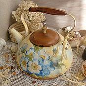 """Для дома и интерьера ручной работы. Ярмарка Мастеров - ручная работа Чайник """"Утро на даче"""". Handmade."""