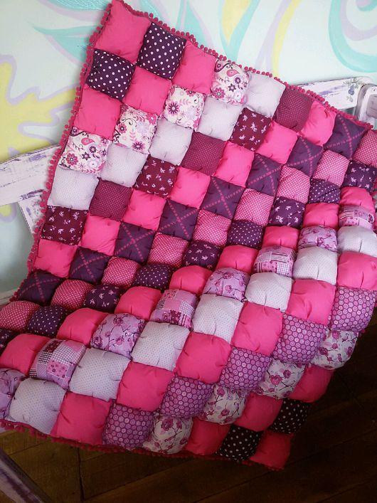 Детское одеяло из помпонов своими руками сшить