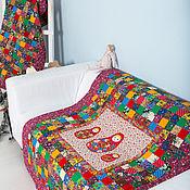 """Для дома и интерьера ручной работы. Ярмарка Мастеров - ручная работа Детское""""3 Матрёшки"""" лоскутное,ватное одеяло. Handmade."""