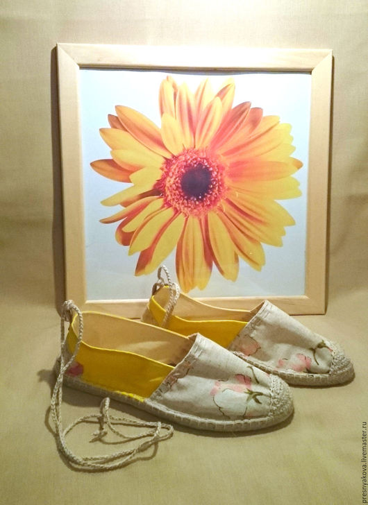 Обувь ручной работы. Ярмарка Мастеров - ручная работа. Купить Эспадрильи.. Handmade. Комбинированный, обувь на заказ, хлопок 100%