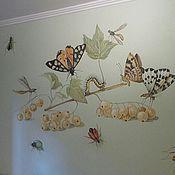Дизайн и реклама ручной работы. Ярмарка Мастеров - ручная работа Роспись стен в детской мальчика. Handmade.