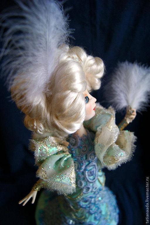 """Коллекционные куклы ручной работы. Ярмарка Мастеров - ручная работа. Купить """"Вы поедете на бал?"""". Handmade. Голубой, принцесса"""