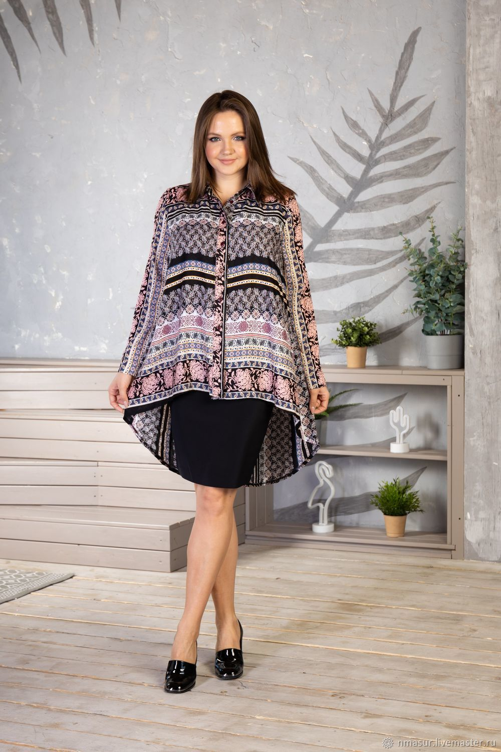 Blouse made of viscose ' Oriental Pattern', Blouses, Novosibirsk,  Фото №1