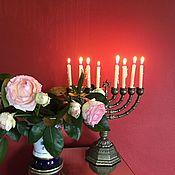 Винтаж handmade. Livemaster - original item The menorah, a bronze candlestick, Holland. Handmade.