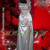 """Платья ручной работы. Ярмарка Мастеров - ручная работа Вышитое платье """"влюбленна""""белое. Handmade."""