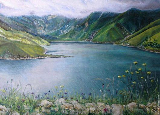 """Пейзаж ручной работы. Ярмарка Мастеров - ручная работа. Купить Картина """"Чечня, озеро Кезеной-Ам"""". Handmade. Картина, пейзаж"""