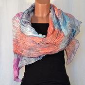 Аксессуары handmade. Livemaster - original item Stole silk pressed batik Vanilla sky. Handmade.