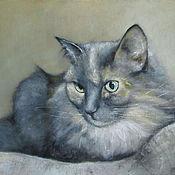 Картины и панно ручной работы. Ярмарка Мастеров - ручная работа Портрет кошки М. Handmade.