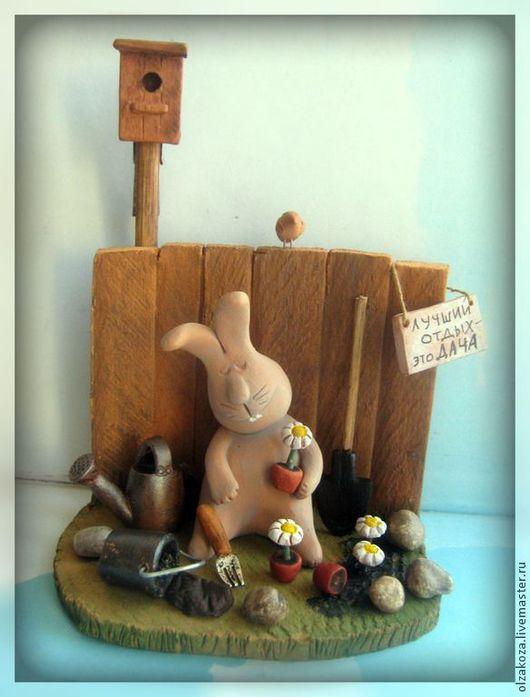 Куклы и игрушки ручной работы. Ярмарка Мастеров - ручная работа. Купить Хорошего урожая!. Handmade. Урожай, коза, дачница