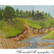 Картины и панно handmade. Livemaster - original item Oil Painting Landscape 30cms Russian painting original gift. Handmade.