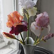 Цветы и флористика ручной работы. Ярмарка Мастеров - ручная работа ирисы. Handmade.