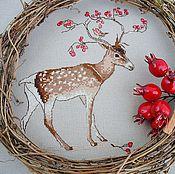 Картины и панно handmade. Livemaster - original item Handmade cross stitch