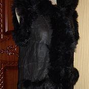 Одежда ручной работы. Ярмарка Мастеров - ручная работа Жилет меховой с капюшоном. Handmade.