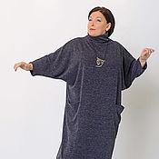 Одежда handmade. Livemaster - original item Tunic dress grey Angora with clinofibrate sleeve. Art. 1408. Handmade.