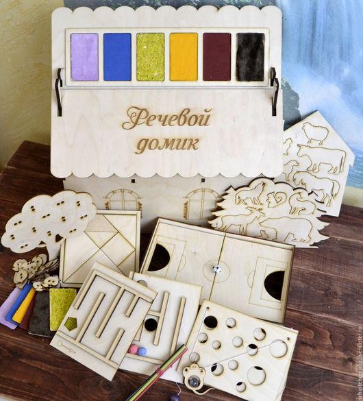Развивающие игрушки ручной работы. Ярмарка Мастеров - ручная работа. Купить Развивающий домик с набором игр 8 в 1.. Handmade.