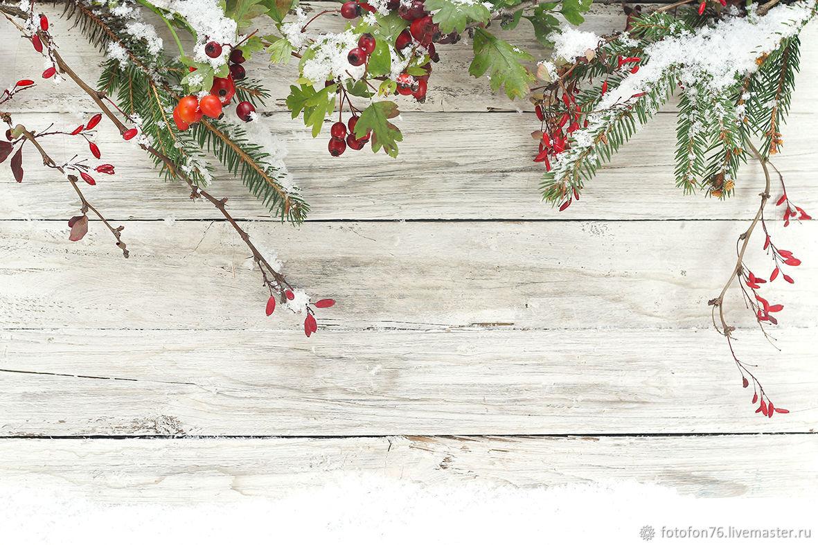 Фотофон Ель в снегу 40х60 см, Фото, Ярославль,  Фото №1