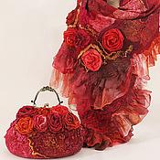 """Сумка & шарф """"Shanty"""" подарок красные"""