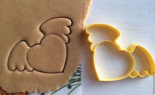 Кухня ручной работы. Ярмарка Мастеров - ручная работа. Купить Форма для печенья Сердце с крыльями. Handmade. Разноцветный, формочка для печенья
