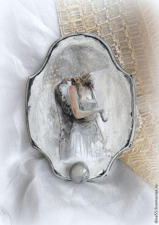"""Люди, ручной работы. Ярмарка Мастеров - ручная работа. Купить Панно вешалка """"Влюбленный дождь 2 """" дерево. Handmade."""