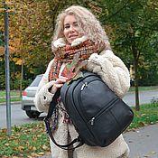 Сумки и аксессуары handmade. Livemaster - original item Backpack black leather women`s urban Fashion R43-111. Handmade.
