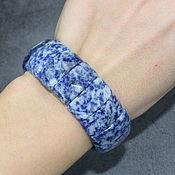 handmade. Livemaster - original item Natural sodalite cut bracelet. Handmade.