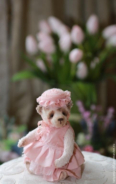 Мишки Тедди ручной работы. Ярмарка Мастеров - ручная работа. Купить Розалия. Handmade. Бледно-розовый, мишка девочка