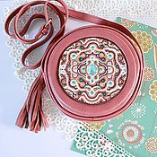 Сумки и аксессуары handmade. Livemaster - original item Handbag with decor and glass rhinestones/handbag shoulder pink. Handmade.
